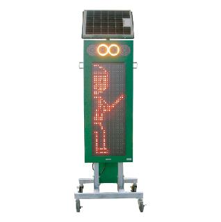 ソーラー式LED電光標示盤 縦型 タイプC